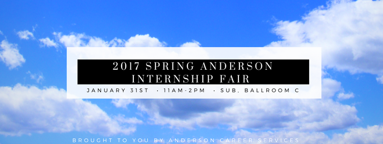 Spring 2017 Anderson Intership Fair